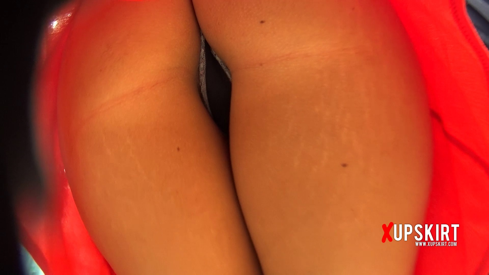 Hot lace thong and amazing ass in upskirt of hot blonde
